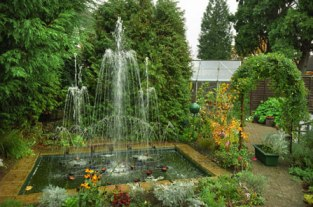Water pond and fountain
